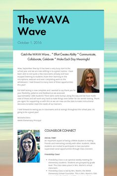 October 2016 ES #WAVA Wave newsletter. Check it out!
