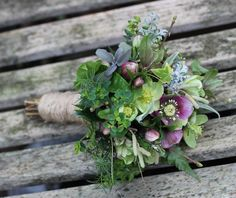 Corsican Hellebore Bouquet by Lockwood Cottage Flowers, 2015. http://lockcottageflowers.blogspot.com/2015/01/what-if.html