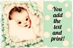 Baby shower instant download editable  file you by OldOwlPress