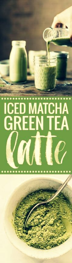 Iced Matcha Green Tea Latte - 3 ingredient perfection for summer! almond milk, honey or agave, and matcha powder. Matcha Green Tea Latte, Matcha Green Tea Powder, Milk Shakes, Tea Smoothies, Smoothie Drinks, Yummy Drinks, Healthy Drinks, Refreshing Drinks, Beaux Desserts