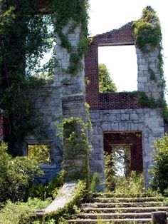 Dungeness ruins (Carnegie Mansion), Cumberland Island, Georgia i love a book set on this island - would like to see it Old Buildings, Abandoned Buildings, Abandoned Places, Places To Travel, Places To See, Cumberland Island, Montage Photo, Amelia Island, Future Travel