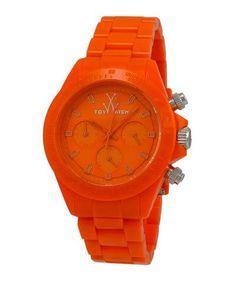 Y2CGB ToyWatch MonoChrome Orange Plasteramic Watch