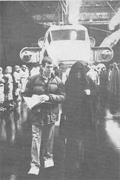Backstage on the original Star Wars trilogy #movie #art #print