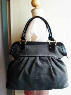 Black Women bag, diaper bag, tote bag, laptop bag, book bag, large diaper bag,  travel bag, woven bag, women bag, school bag. $39.99, via Etsy.
