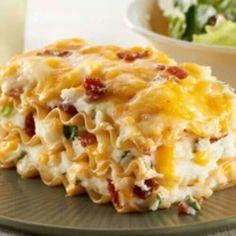 Lasagna on Pinterest | Vegetable Lasagna Recipes, Buffalo Chicken Las ...