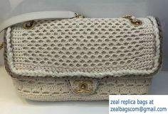 Chanel Crochet Braid Cayo Coco Flap Bag A93680 White Cruise 2017