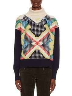 Primary Pixels cashmere sweater | Barrie | MATCHESFASHION.COM UK