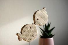 Desk Decoration Sparrow Puffer Fish Plywood Art Curiosity