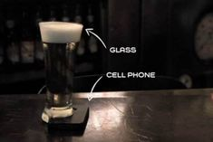 A specially-designed beer glass, the Offline Glass, only stays upright when resting on top a cell phone, preventing texting and surfing while in conversation.