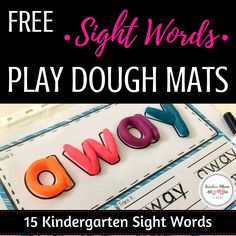 free | sight words | play dough mats | activity | play doh | Grab these by subscribing to Teacher Mama School!