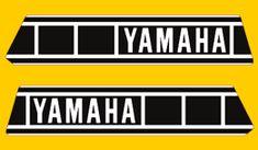 Decals for Classic Yamaha YZ Series Yamaha Logo, Motos Yamaha, Yamaha Dt, Motorcycle Decals, Motorcycle Logo, Xt 600 Scrambler, Dirt Bike Gear, Sr500, Cartoon Sketches
