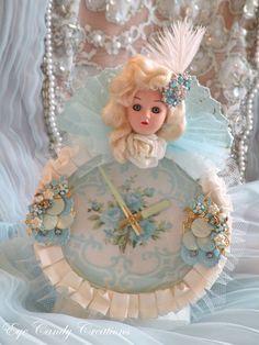 Glamour Boudoir Doll Clock Assemblage-Jennifer Hayslip Eye Candy Creation