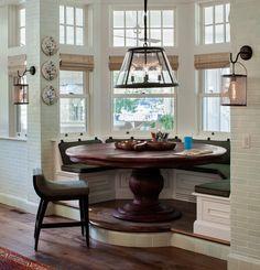 Интерьер кухни в доме (эркер) фото - 1