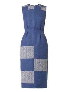 Ida patchwork herringbone dress   Roksanda   MATCHESFASHION.COM