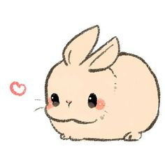 Fat and simple bunny rabbit