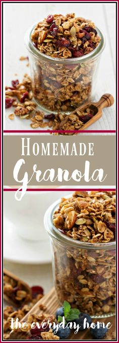 easy-homemade-granola-with-cranberries-and-nuts | The Everyday Home | www.everydayhomeblog.com