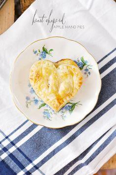 heart shaped apple hand pies