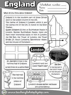 England - Worksheet (B&W version)