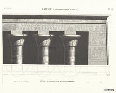 French Architecture Print of  Grand Temple of Horus