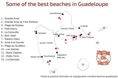 map best beaches in Guadeloupe Islands
