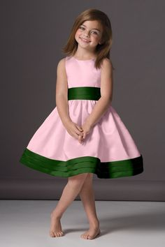 so cute for a flower girl. these colors are gorgeous together. I like the matching ribbon sash and bottom