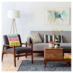 Decorating: Zig Zag Embroidered Pillow White/Black - Threshold™ : Target