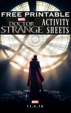 Printable Doctor Strange Activity Sheets | free Dr. Strange printables | Marvel activity sheets