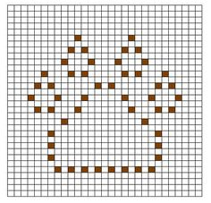 Ravelry: Paw Print Bobble Chart pattern by Kari Philpott