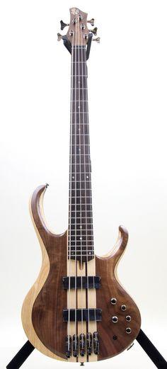Ibanez BTB745 5-String Bass Guitar | Natural Low Gloss Finish