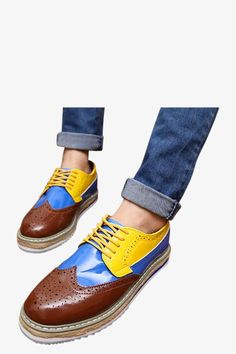 Brogue Oxford Shoes In Brown