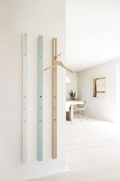 Wall-mounted MDF coat rack LINE   Coat rack by Schönbuch