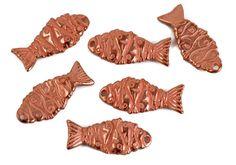 4 Mykonos Fishy Fish Charms  Copper   Greek by createyourbliss, $5.40