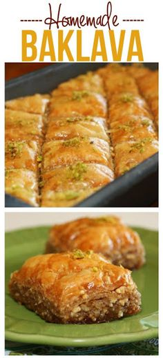 This Homemade Baklava recipe takes time, but it is SO worth it! This Baklava is perfect for family functions, parties, or for gifting! Impressive Desserts, Delicious Desserts, Homemade Baklava Recipe, Bakery Recipes, Cooking Recipes, Dessert Recipes, Sandwiches, Keto, World Recipes