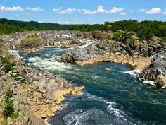 View of the Potomac River from Great Falls State Park in northern Virginia, USA