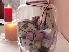 Advent calendar in a jar! I love jars, but if you don't this site has more neat ideas for advent calenders.