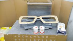 Ready to paint and prime up the glasses in our painting room - here at Marvellous Mirrors .NL