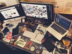 Espacio de trabajo de un diseñador grafico increíble
