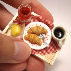 Miniature food: tiny cakes, sweets and savoury creations by French artist   Stephanie Kilgast.