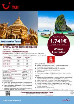 Thailandia:Súper Thai con Phuket.11ns.De 04/10 al 17/03/15.Mad y Bcn con EK.Precio final dsde 1.741€ ultimo minuto - http://zocotours.com/thailandiasuper-thai-con-phuket-11ns-de-0410-al-170315-mad-y-bcn-con-ek-precio-final-dsde-1-741e-ultimo-minuto-3/