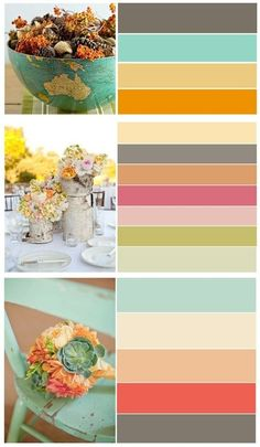 Spring color pallets and flowers. Love!