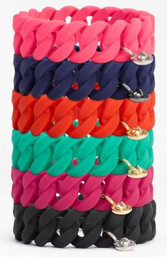 Marc by Marc Jacobs Rubber Turnlock Stretch Bracelet. Fun and classy.