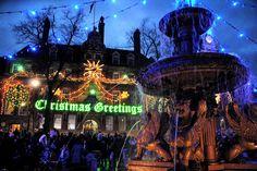 Christmas In England, English Christmas, Leicester, Christmas Lights, Fair Grounds, Explore, City, Photos, Travel