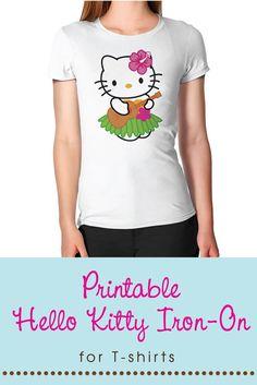 Hello Kitty Hula/Luau Printable Sign or Iron-on T-shirt Transfer