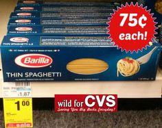 Barilla Blue Box Pasta only $.75 at CVS! - http://couponkarma.com/barilla-blue-box-pasta-only-75-at-cvs/