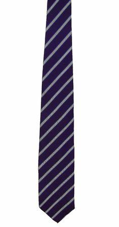 The Mens Store Bloomingdales Purple Stripe 100% Silk Dress Neck Necktie Tie 60in #Bloomingdales #Tie