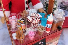 How to make American Girl Hot Cocoa Stand It's the season for hot cocoa! Watch our new video to learn how we made an American Girl Hot Cocoa Stand with all the fixins! This tutorial can really be used for any stand your dolls need like lemonade, ice cream, bake sale, etc. It's fun because …