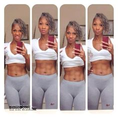 Sexy Fit African American Women | 55 Years Old, 4 Kids... Head FULL OF GRAY HAIR -- Would You Hit It?!
