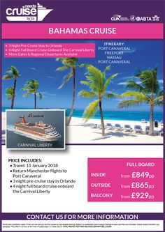 @CaribJournal Carnival Cruise Line and what amazing offers on Liberty and it includes your flights, pre-cruise stay, and the cruise itself!