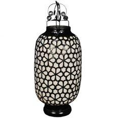 Medium Black and White Lantern