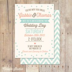 Rustic Vintage Mint Peach Plum Teal Wedding by casalastudio, $18.00